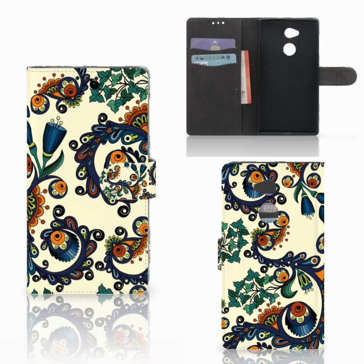 Wallet Case Sony Xperia XA2 Ultra Barok Flower
