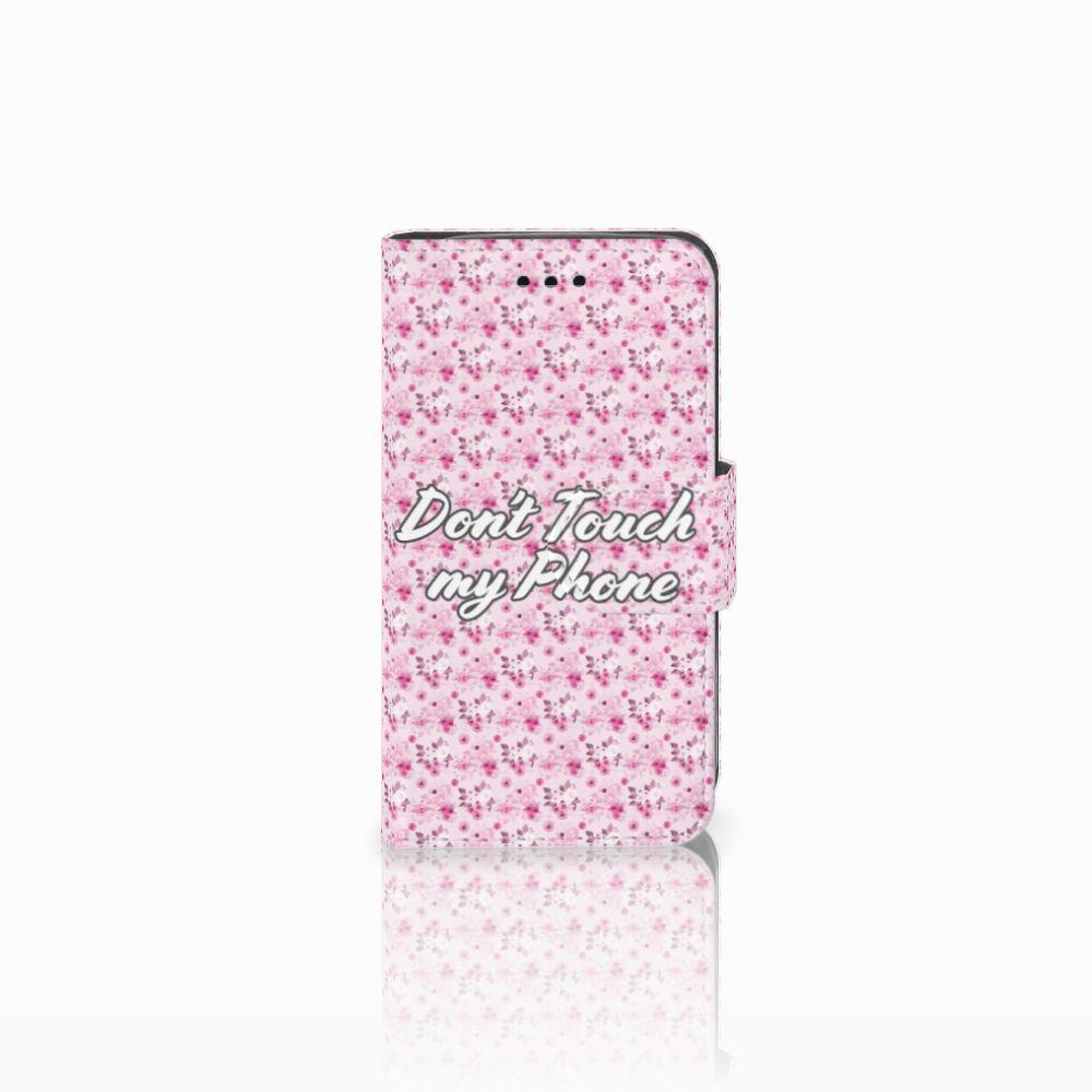 Samsung Galaxy Trend 2 Uniek Boekhoesje Flowers Pink DTMP