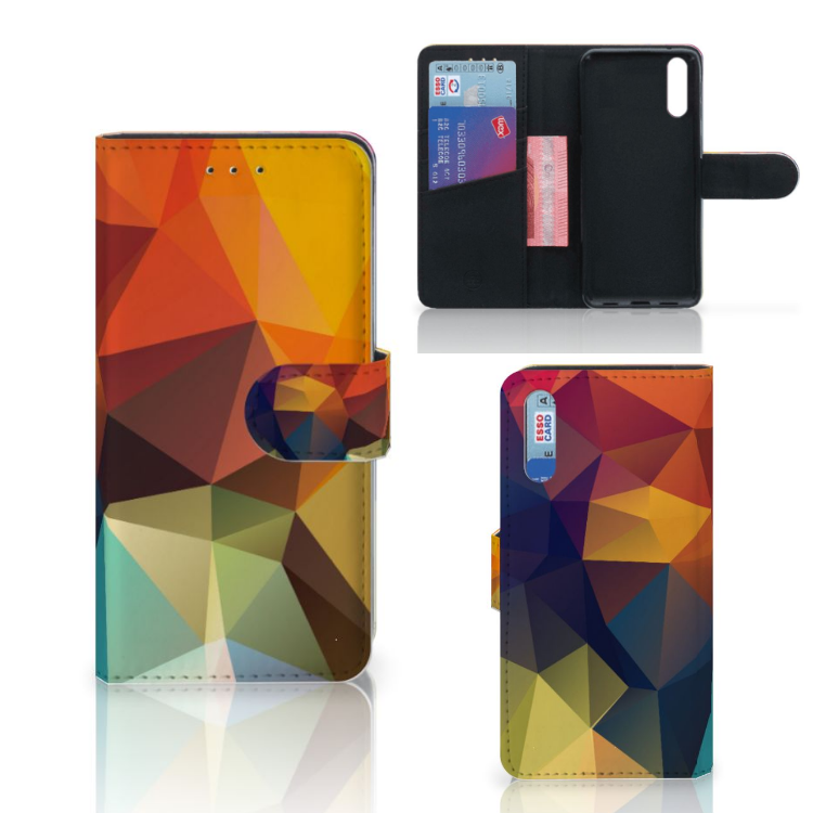 Huawei P20 Bookcase Polygon Color