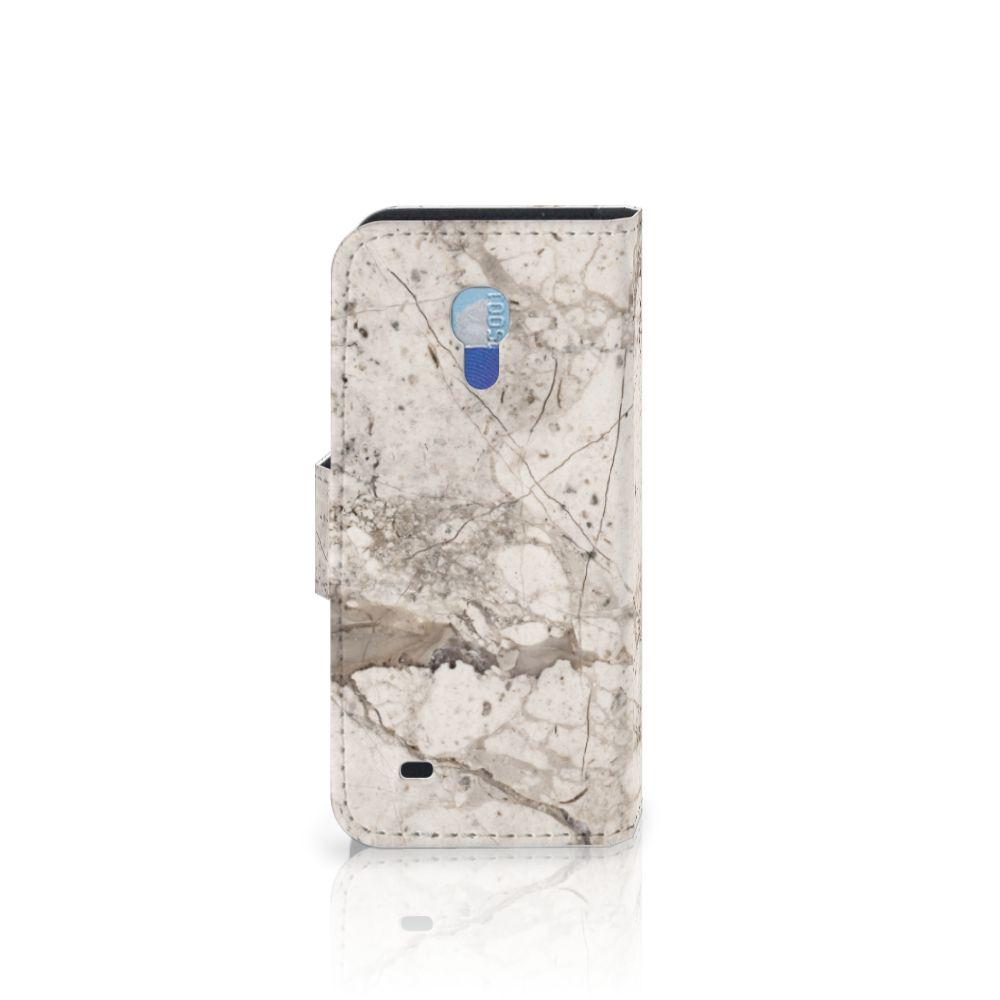 Samsung Galaxy S4 Mini i9190 Bookcase Marmer Beige