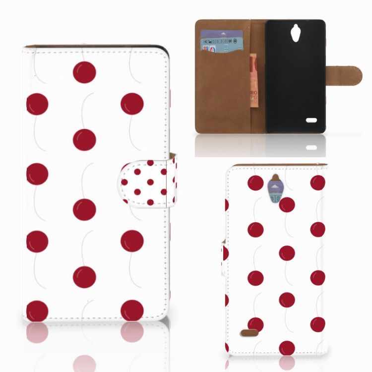 Huawei Ascend G700 Book Cover Cherries