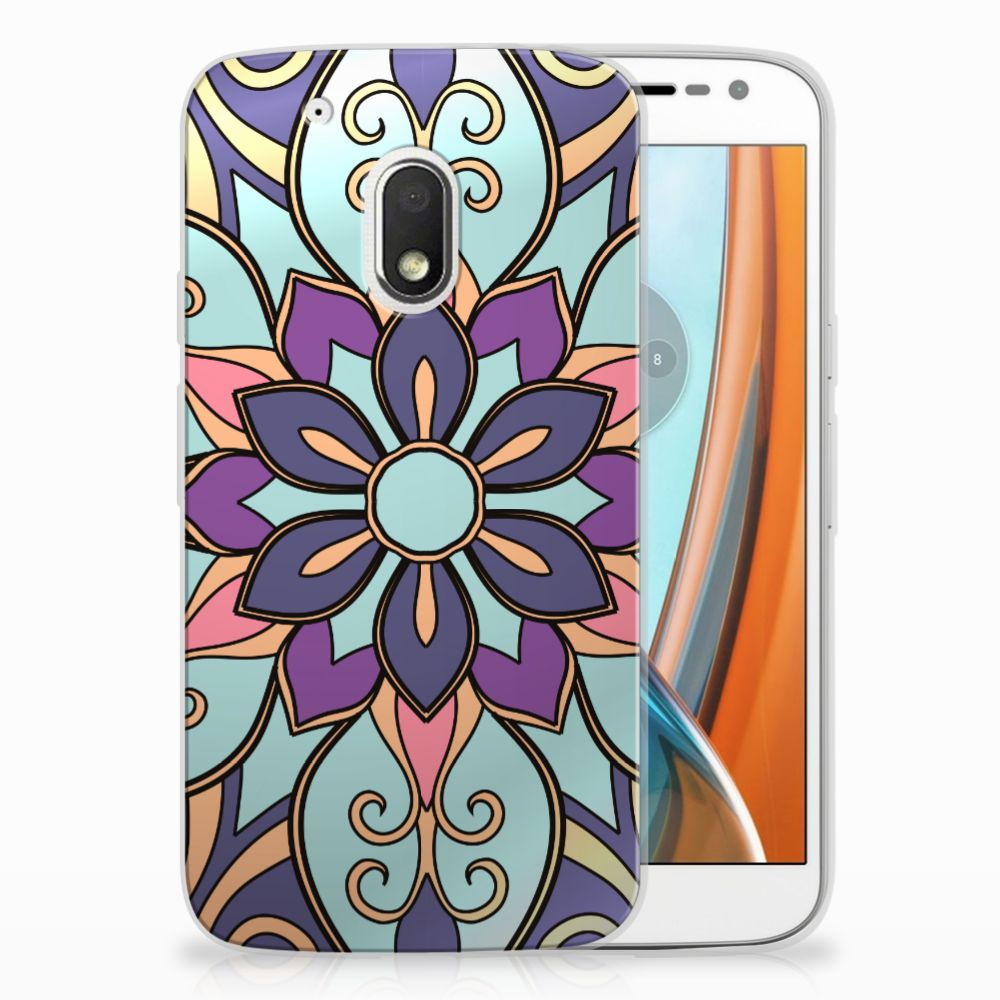 Motorola Moto G4 Play TPU Hoesje Design Purple Flower