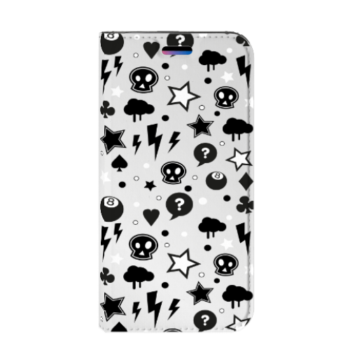 Apple iPhone X | Xs Uniek Standcase Hoesje Silver Punk