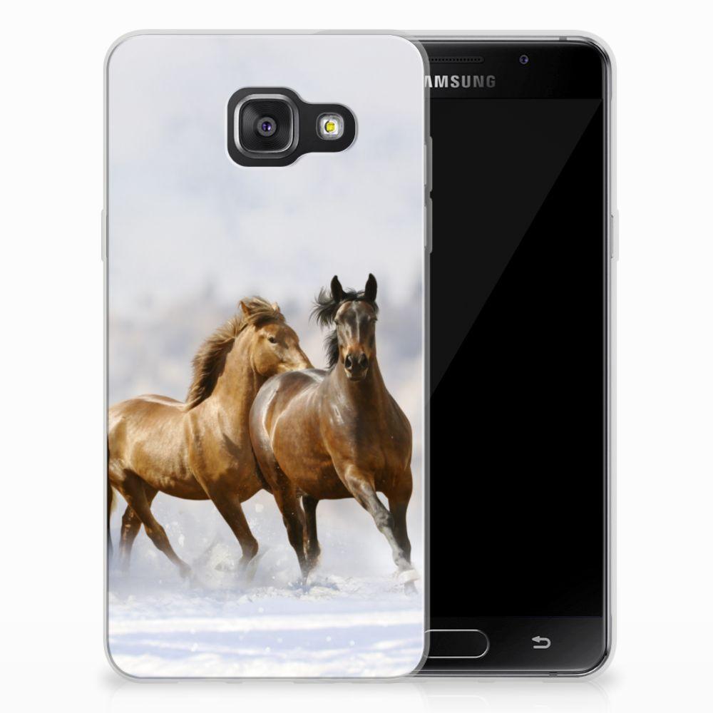 Samsung Galaxy A3 2016 Uniek TPU Hoesje Paarden