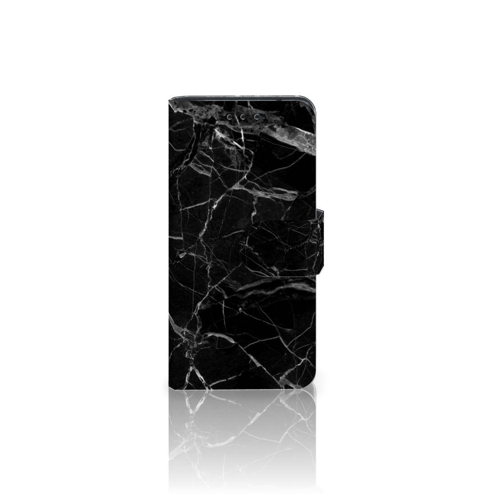 Samsung Galaxy S5 Mini Uniek Boekhoesje Marmer Zwart