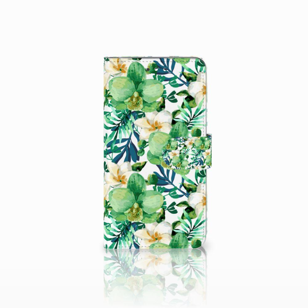 Huawei Y7 2017   Y7 Prime 2017 Uniek Boekhoesje Orchidee Groen