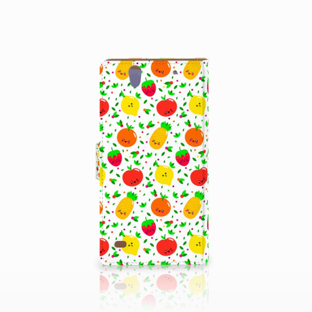 Sony Xperia C4 Book Cover Fruits