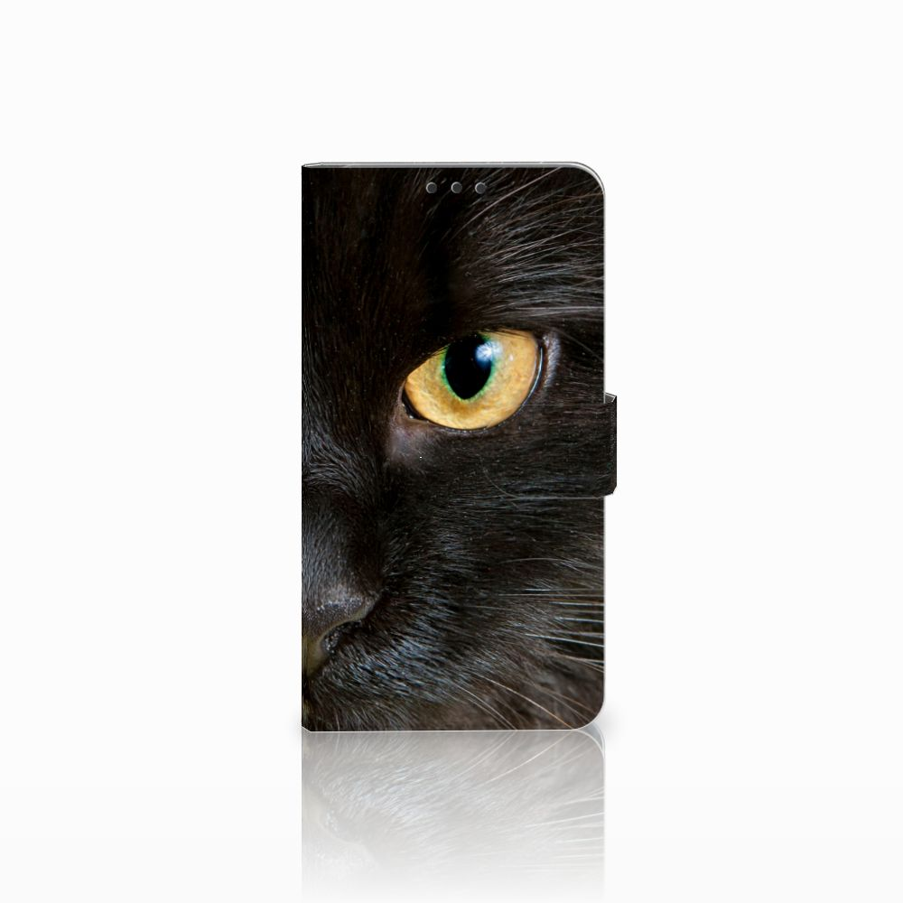 Microsoft Lumia 640 XL Uniek Boekhoesje Zwarte Kat