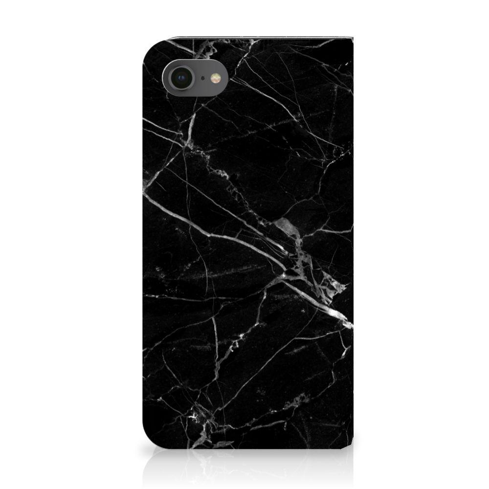 Apple iPhone 7 | 8 Uniek Standcase Hoesje Marmer Zwart