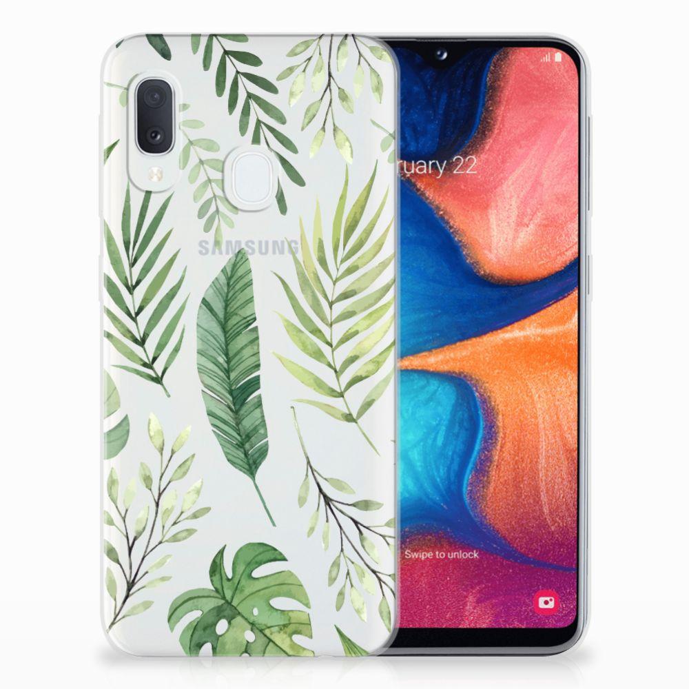 Samsung Galaxy A20e TPU Case Leaves