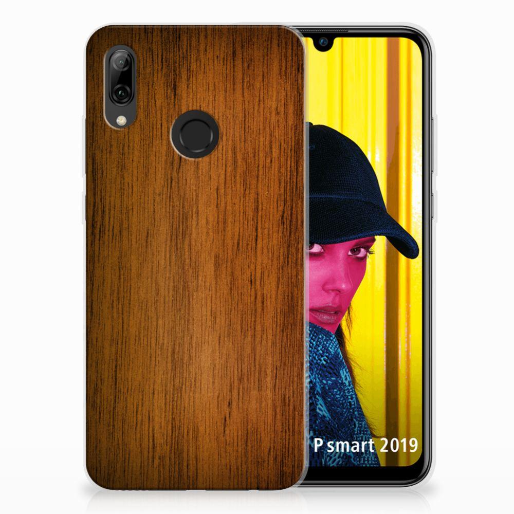 Huawei P Smart 2019 Uniek TPU Hoesje Donker Hout