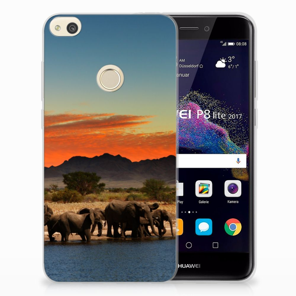 Huawei P8 Lite 2017 TPU Hoesje Design Olifanten
