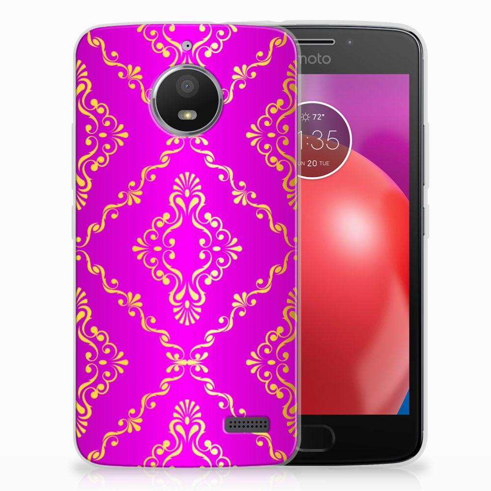 Motorola Moto E4 Uniek TPU Hoesje Barok Roze