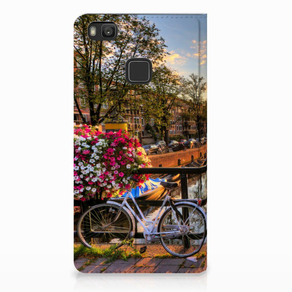 Huawei P9 Lite Uniek Standcase Hoesje Amsterdamse Grachten