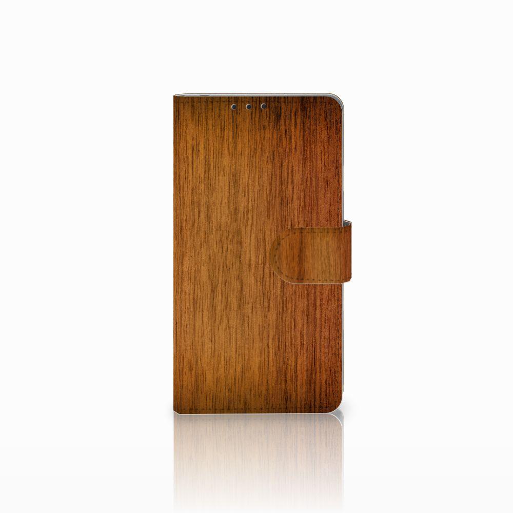 Sony Xperia Z1 Uniek Boekhoesje Donker Hout