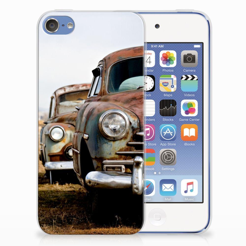 Apple iPod Touch 5 | 6 Siliconen Hoesje met foto Vintage Auto