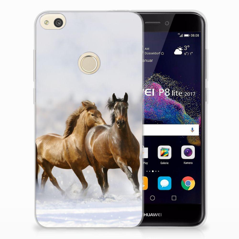 Huawei P8 Lite 2017 Uniek TPU Hoesje Paarden