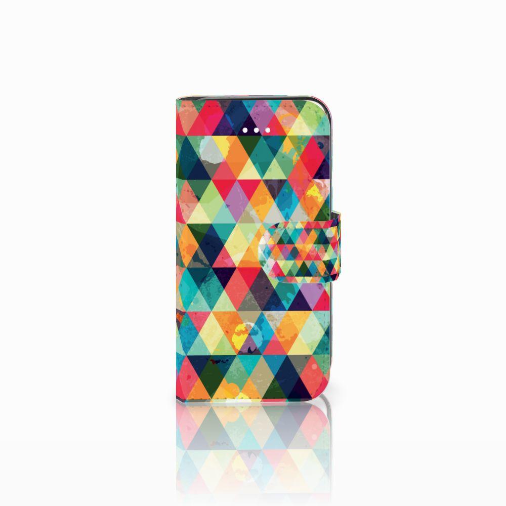 Apple iPhone 5 | 5s | SE Uniek Boekhoesje Geruit