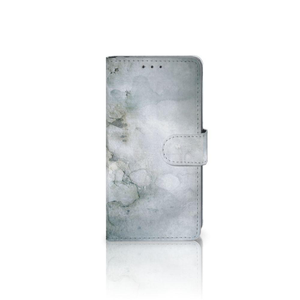 Sony Xperia Z2 Uniek Boekhoesje Painting Grey