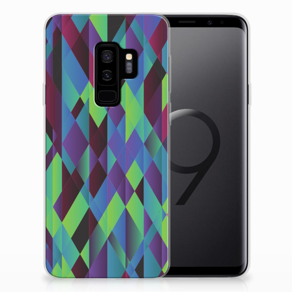 Samsung Galaxy S9 Plus TPU Hoesje Abstract Green Blue