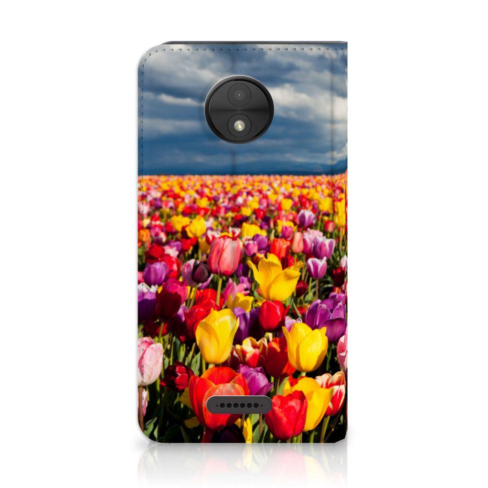 Motorola Moto C Uniek Standcase Hoesje Tulpen