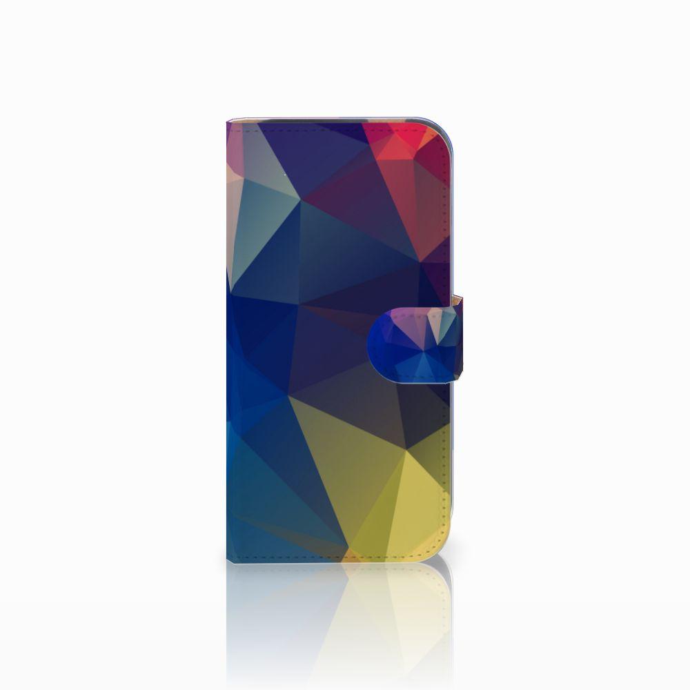 HTC One M8 Bookcase Polygon Dark
