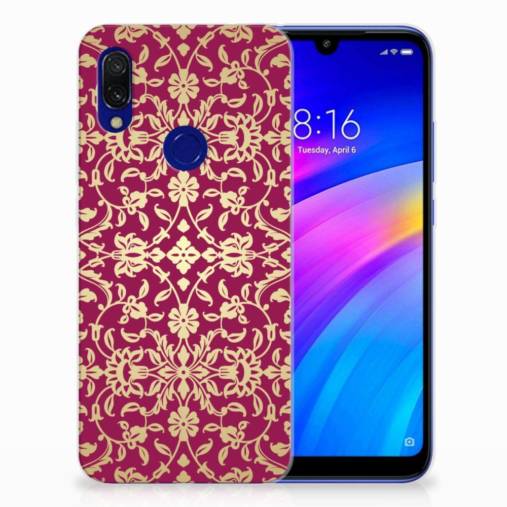 Siliconen Hoesje Xiaomi Redmi 7 Barok Pink