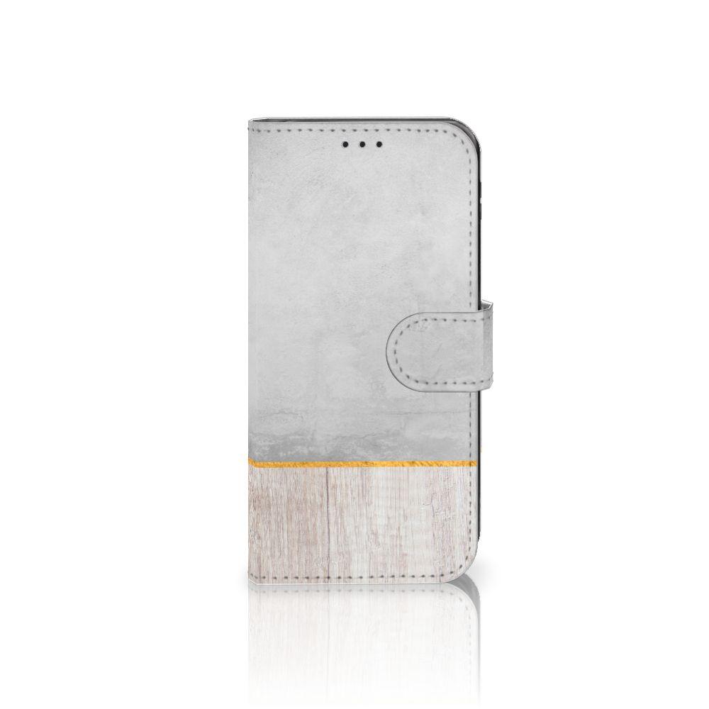 Samsung Galaxy J5 2017 Uniek Boekhoesje Wood Concrete
