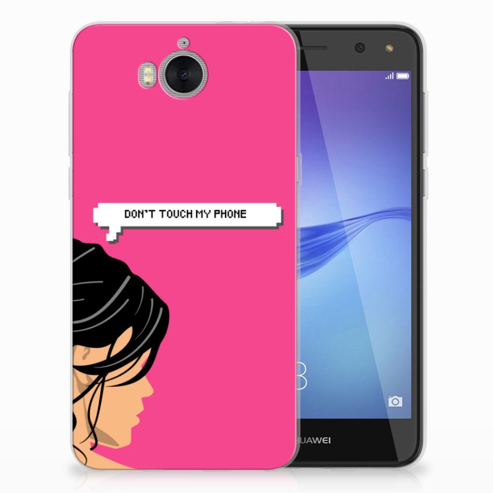 Huawei Y5 2017   Y6 2017 Uniek TPU Hoesje Woman DTMP