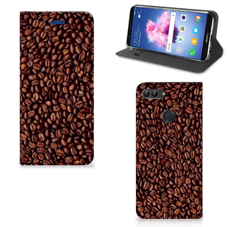 Huawei P Smart Flip Style Cover Koffiebonen