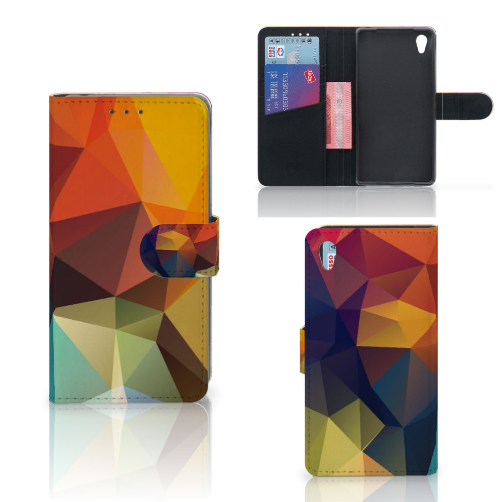 Sony Xperia Z2 Bookcase Polygon Color