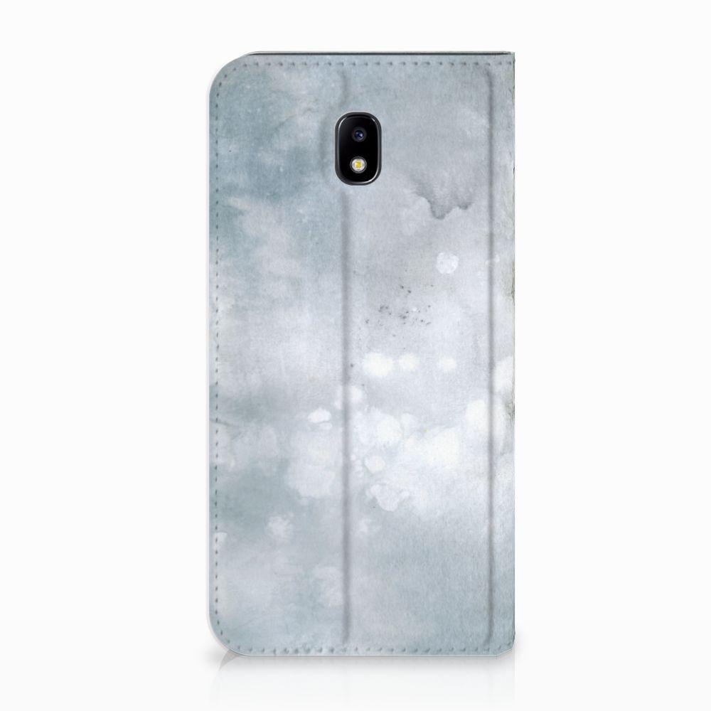 Samsung Galaxy J5 2017 Uniek Standcase Hoesje Painting Grey