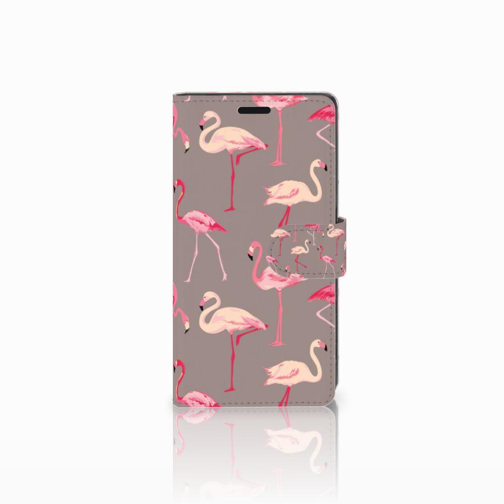 Sony Xperia XZ | Sony Xperia XZs Uniek Boekhoesje Flamingo
