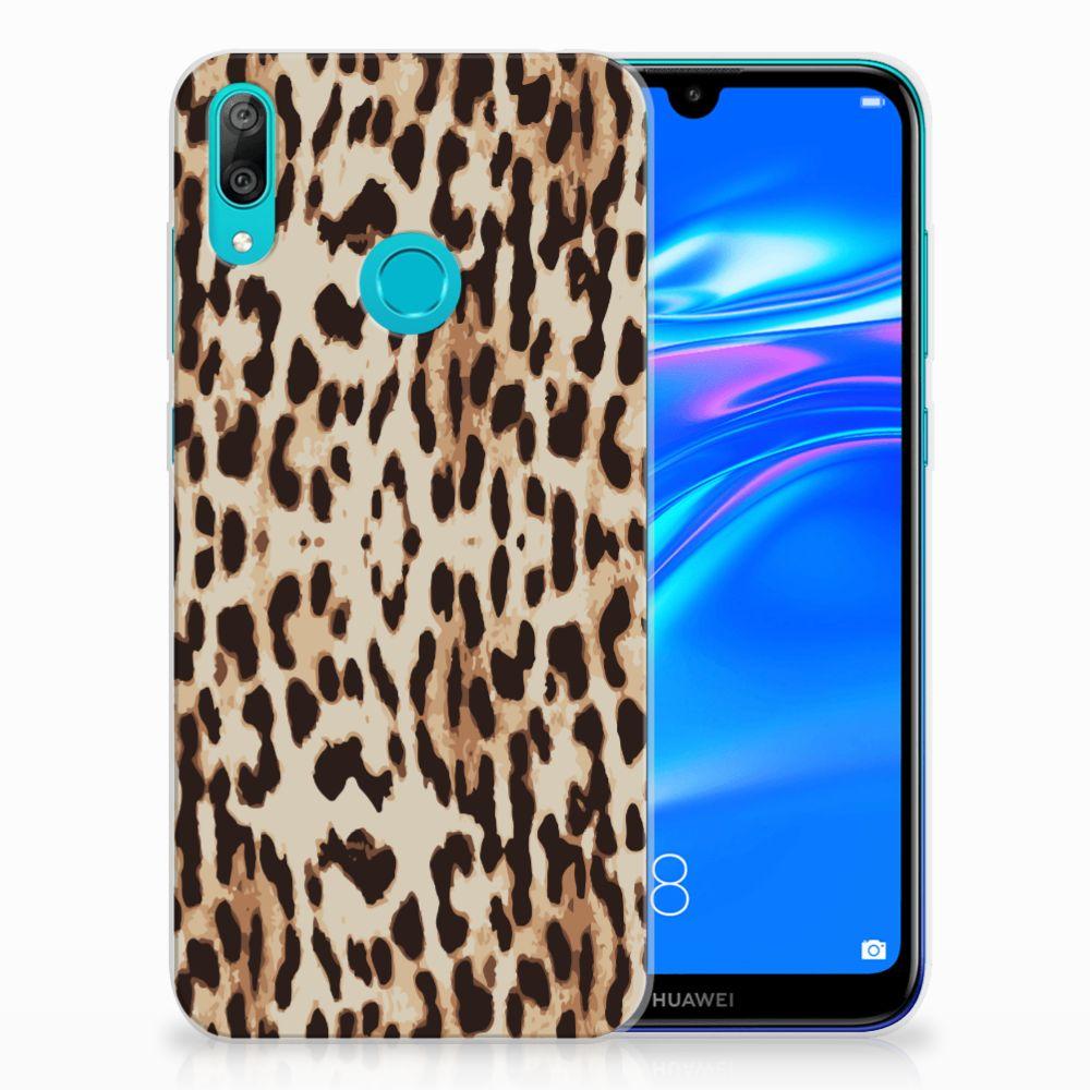 Huawei Y7 2019 TPU Hoesje Leopard