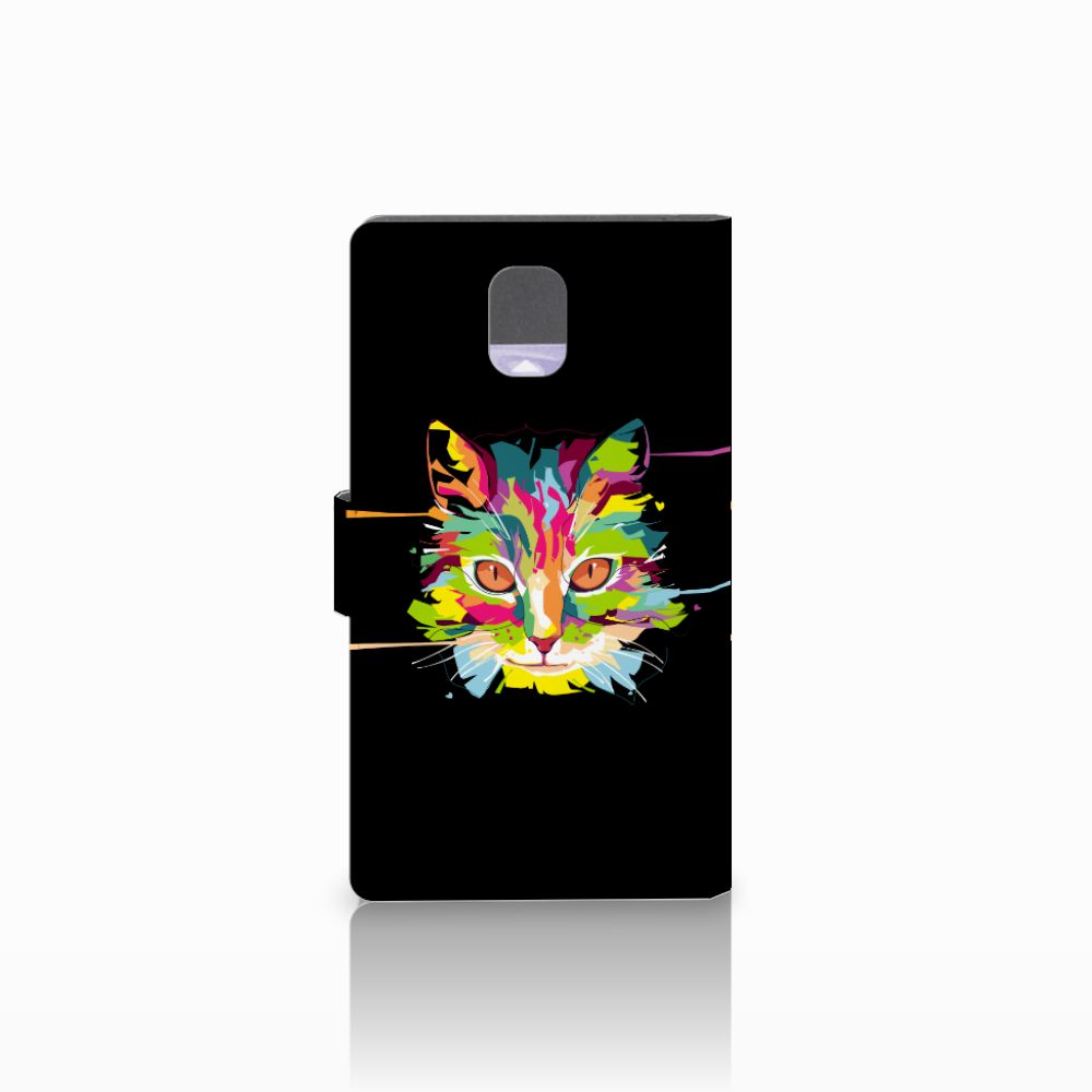 Samsung Galaxy Note 3 Leuke Hoesje Cat Color