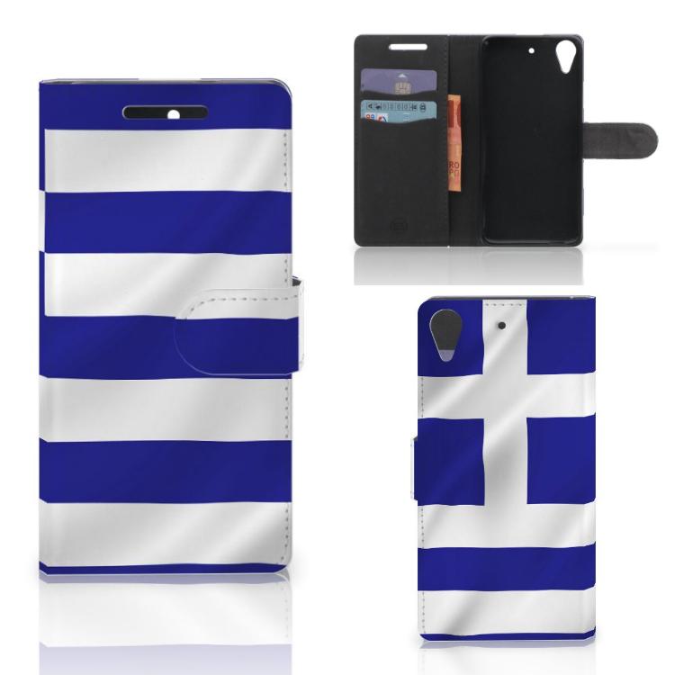 HTC Desire 628 Bookstyle Case Griekenland