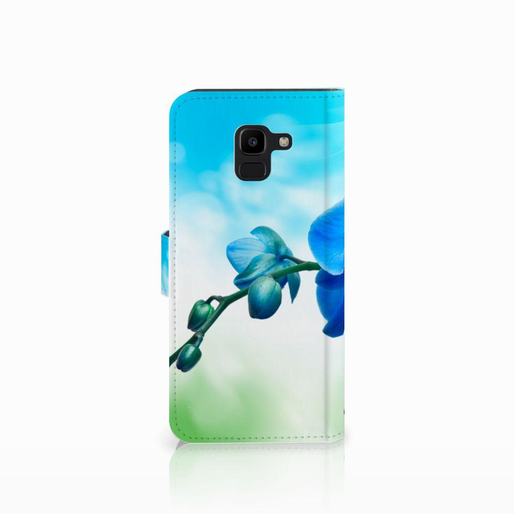Samsung Galaxy J6 2018 Hoesje Orchidee Blauw