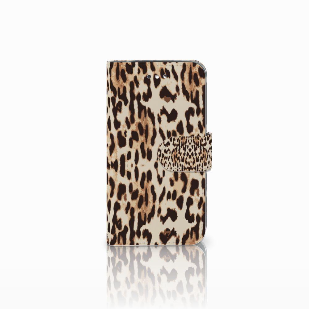 Samsung Galaxy S4 Uniek Boekhoesje Leopard