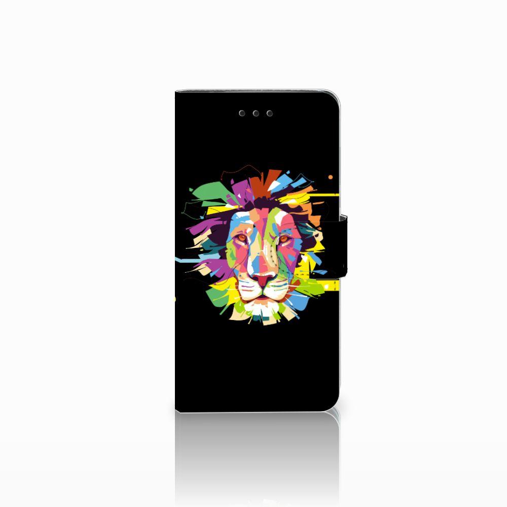 Huawei Y5 2018 Uniek Boekhoesje Lion Color