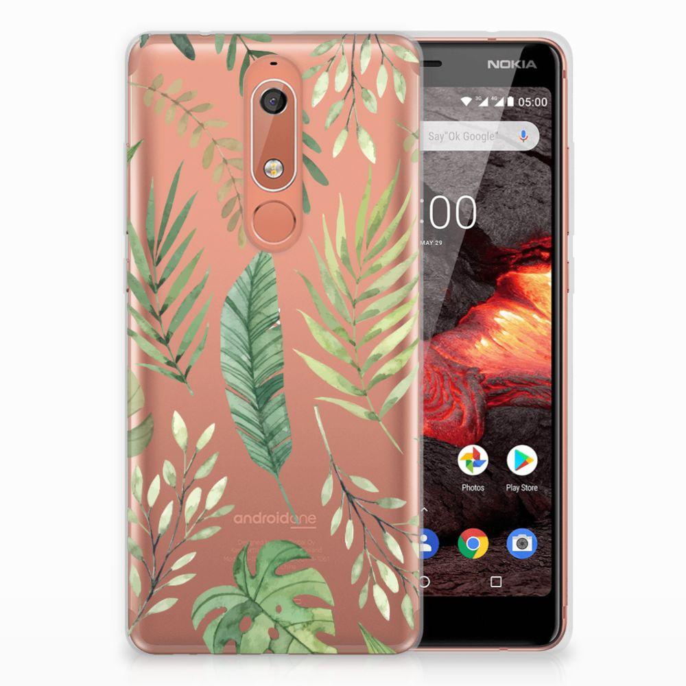 Nokia 5.1 (2018) TPU Case Leaves