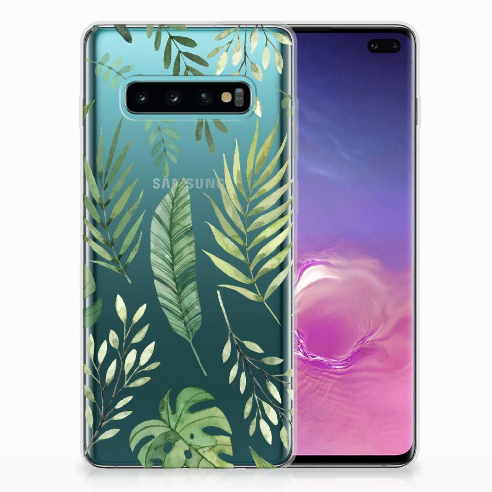 Samsung Galaxy S10 Plus Uniek TPU Hoesje Leaves