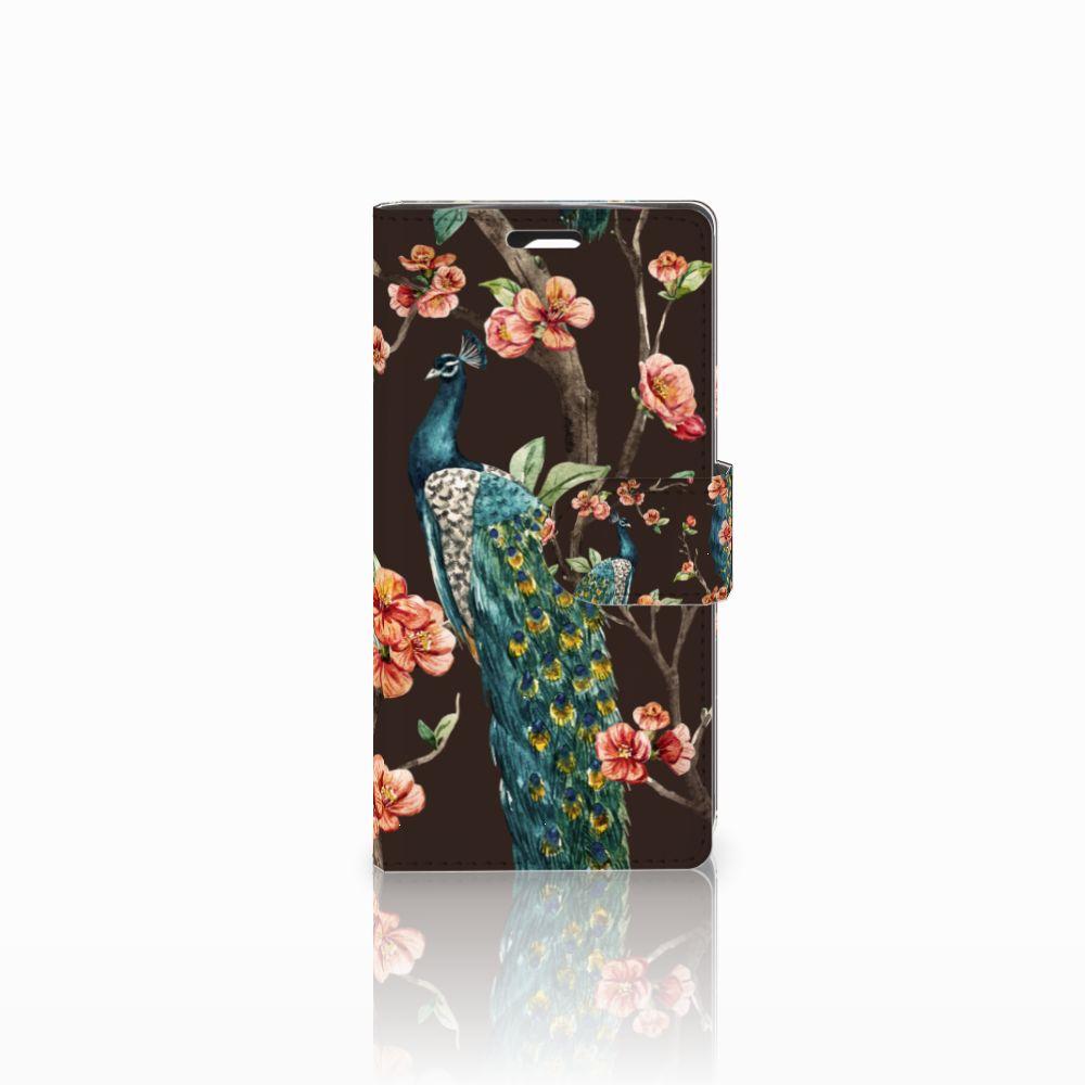 LG Spirit Boekhoesje Design Pauw met Bloemen