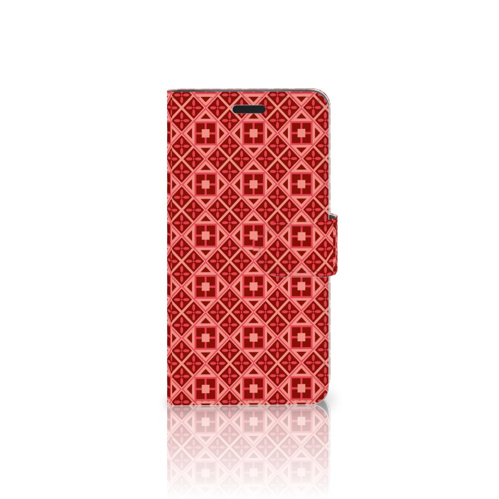 HTC 10 Uniek Boekhoesje Batik Red