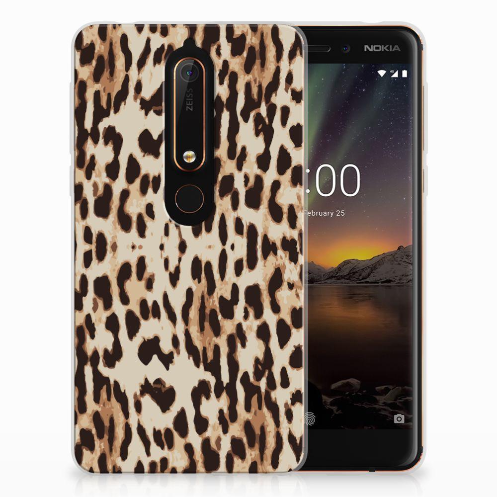 Nokia 6 (2018) Uniek TPU Hoesje Leopard