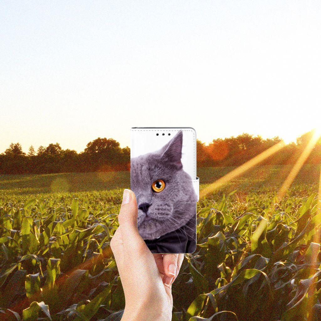LG Bello 2 Telefoonhoesje met Pasjes Kat