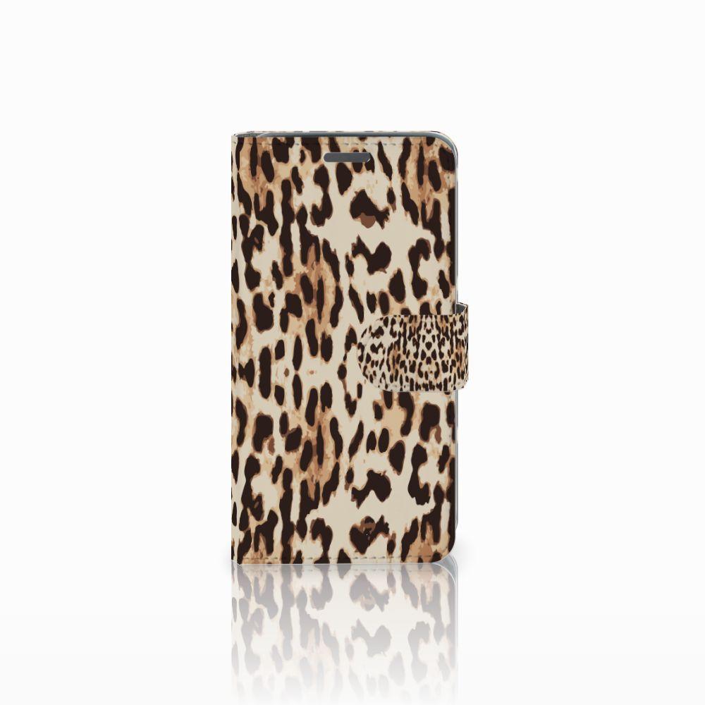 Wiko Rainbow Jam Uniek Boekhoesje Leopard