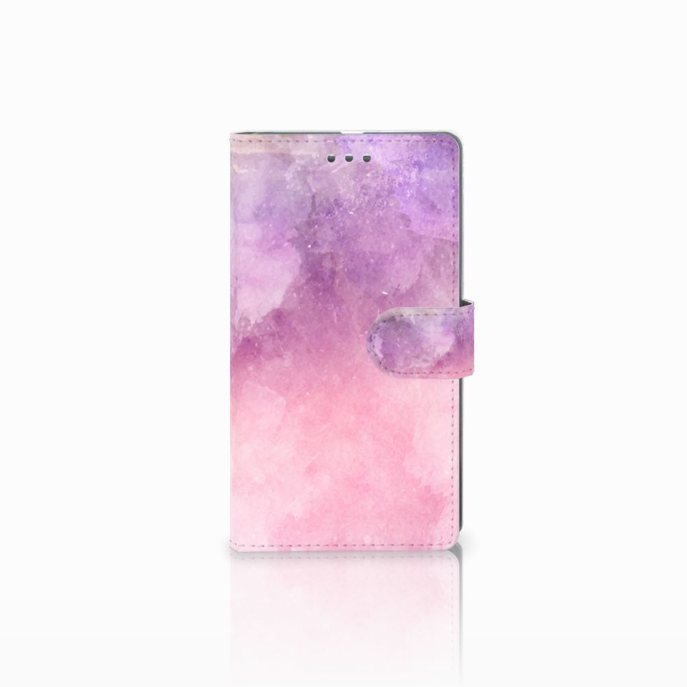 Microsoft Lumia 950 XL Boekhoesje Design Pink Purple Paint