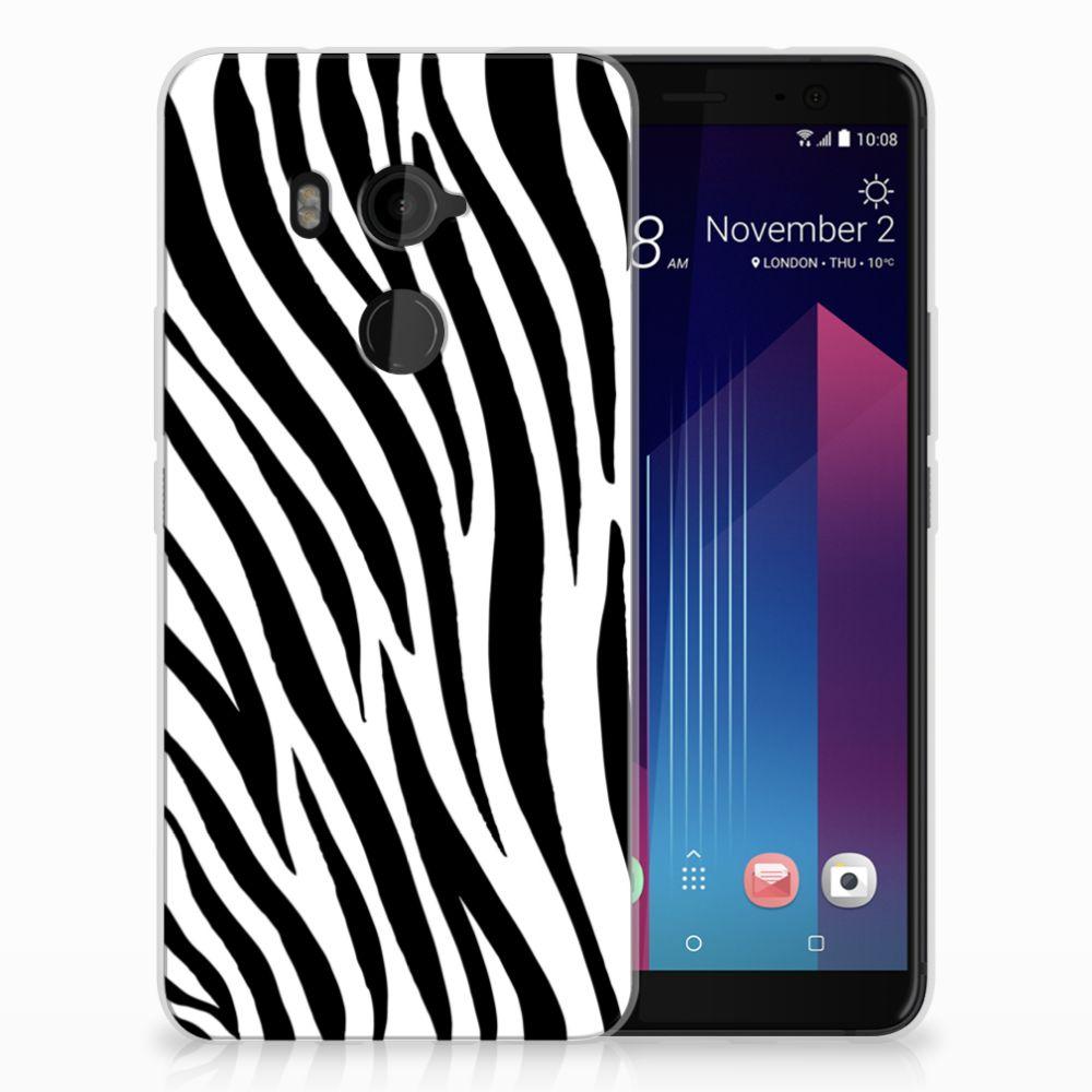 HTC U11 Plus TPU Hoesje Design Zebra