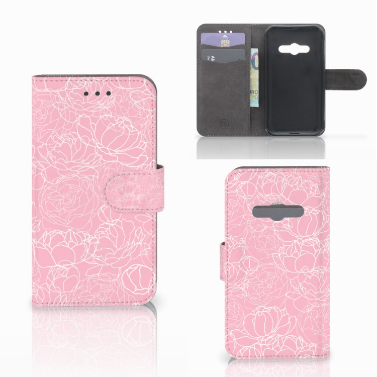 Samsung Galaxy Xcover 3 | Xcover 3 VE Wallet Case White Flowers