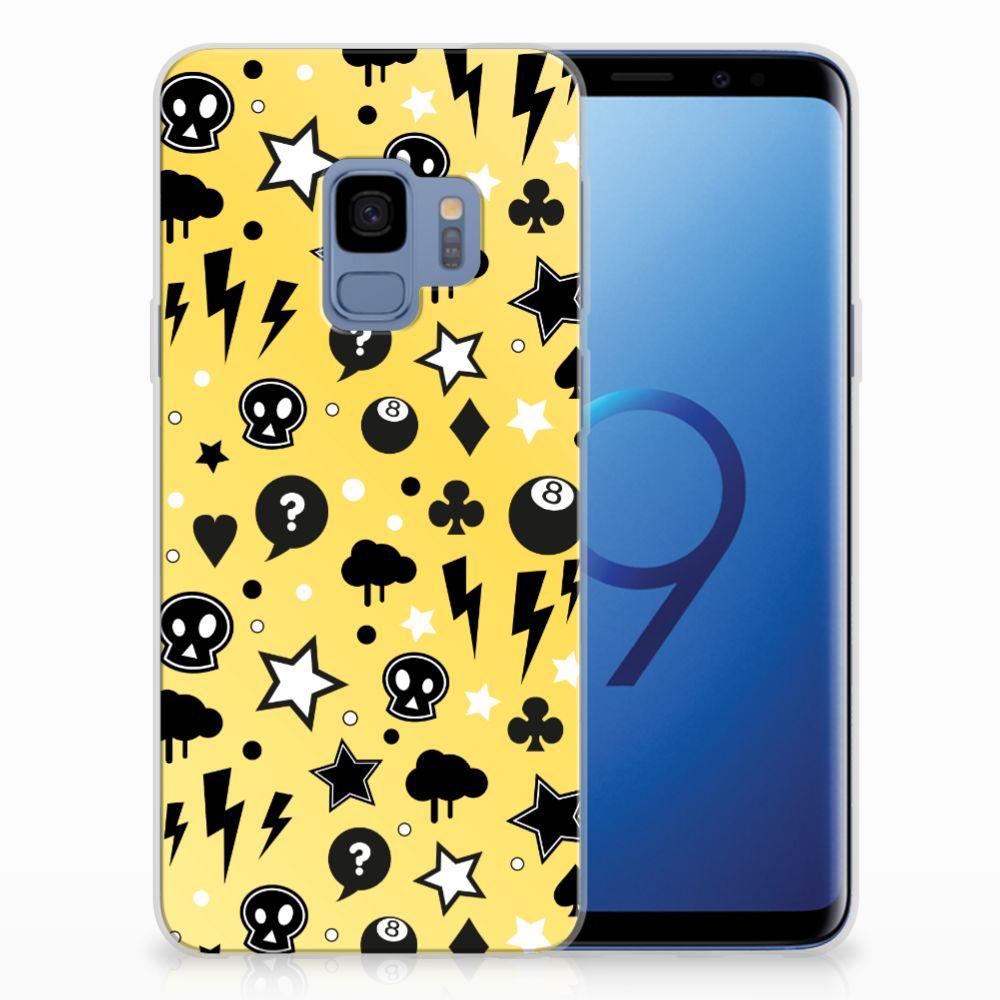 Samsung Galaxy S9 Uniek TPU Hoesje Punk Yellow